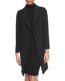 Claudia Wool Snap-Front Coat