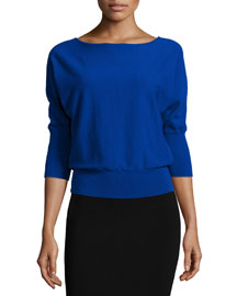 3/4-Dolman-Sleeve Pullover Top