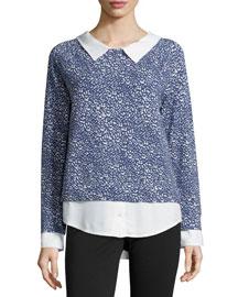 Keala Printed Layered Sweater