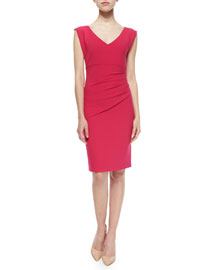 Bevin Sleeveless V-Neck Sheath Dress, Pink