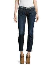 Tomboy Slim Cropped Jeans, Classic Graffiti