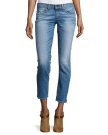 Tomboy Slim-Leg Cropped Jeans, West Village