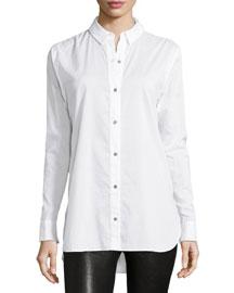 Beau Long-Sleeve Shirt, Bright White