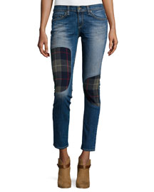 Dre Low-Rise Patchwork Denim Jeans, Champs Workshop