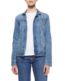 Lightly Distressed Denim Jacket