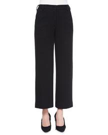 Cropped Wide-Leg Dress Pants