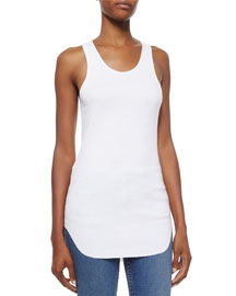 Cotton Racerback Shirttail Tank Top