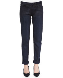 Dirty Indigo-Wash Relaxed Denim Jeans