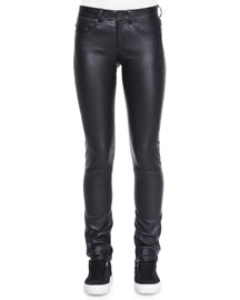 Slim Leather Pants