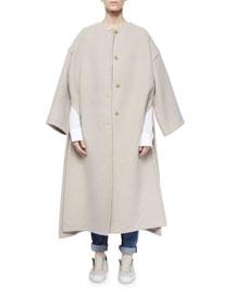 Oversized Cashmere Side-Slit Coat
