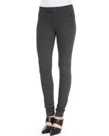 Skinny Ponte Ski Pants, Charcoal