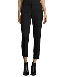 Side Strapping Pants, Black