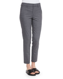 Side Strapping Pants, Heather Gray