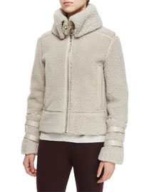 Kerry Lamb Shearling Fur Jacket, Natural