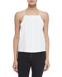 Square-Neck Silk Camisole Top