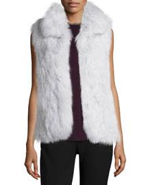 Hanalee L. Knitted Fox-Fur Vest