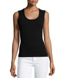 Scoop-Neck Solid Knit Tank Top