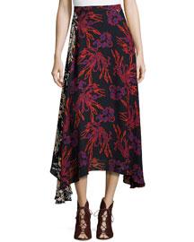 Jackson Printed A-Line Skirt