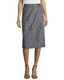 Gantrima K. Pencil Skirt, Black/White