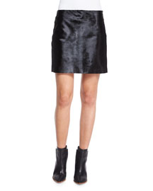 Ketill Sonoran Calf Hair Mini Skirt, Black
