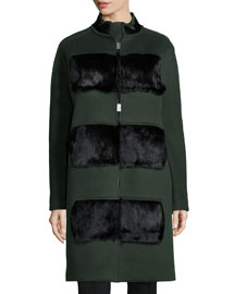 Hillary Coat with Fur Panels