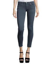 Distressed Ankle Leggings, Greyhound