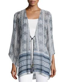 Elspa 3/4-Sleeve Jacket, Sapphire