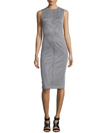 Ekundayo Patterned Knit Sheath Dress
