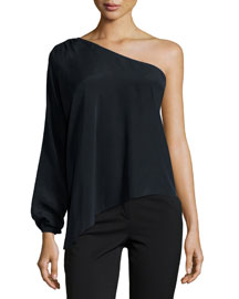 Kanye One-Shoulder Top, Black