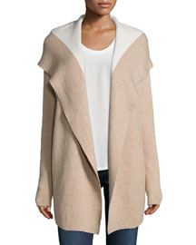 Gredan Hooded Cashmere-Blend Cardigan