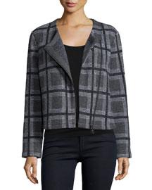 Etesse Plaid Wool-Blend Jacket