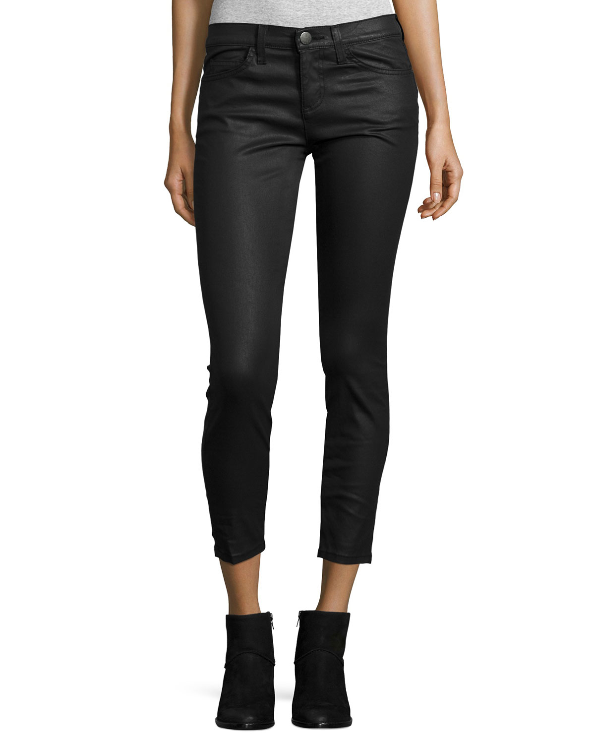 Current/Elliott The Stiletto Coated Jeans, Black, Size: 25