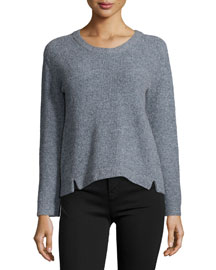 Burlington Long-Sleeve Sweater, Heather Symphony