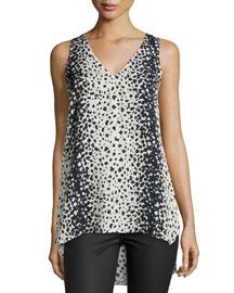 Leopard-Print V-Neck Top