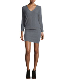 Delsie Thermal-Stitch Dress