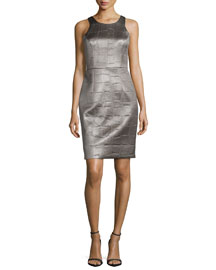 Crocodile-Embossed Sheath Dress