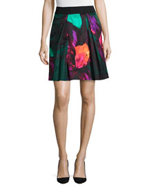 Katie Twilight Floral-Print Skirt