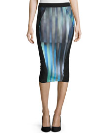 Arianna Striped Pencil Skirt