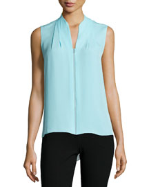 Judith Sleeveless Asymmetric Blouse