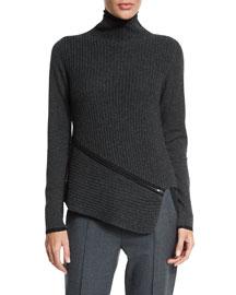 Vienna Turtleneck Asymmetric Sweater