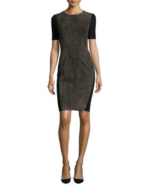 Emily Goat Suede Sheath Dress