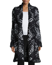 Mercer Lightweight Open-Front Jacket, Black