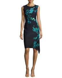 Wynn Floral-Print Asymmetric Dress