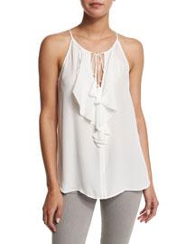 Alipha Ruffled Silk Top