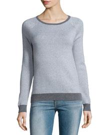 Bini Textured Crewneck Sweater