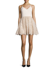 Julianne Ballerina Party Dress, Gold