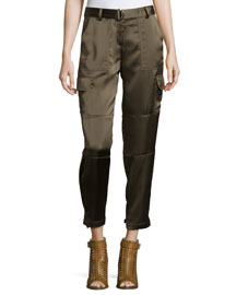 Hannon B. Cropped Splendor Pants, Cedar