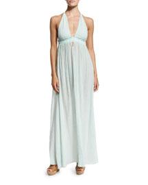Braided Love Halter Maxi Dress