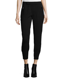 Patchwork Cargo Trousers, Black