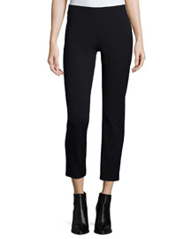 Slim-Fit Side-Zip Trousers